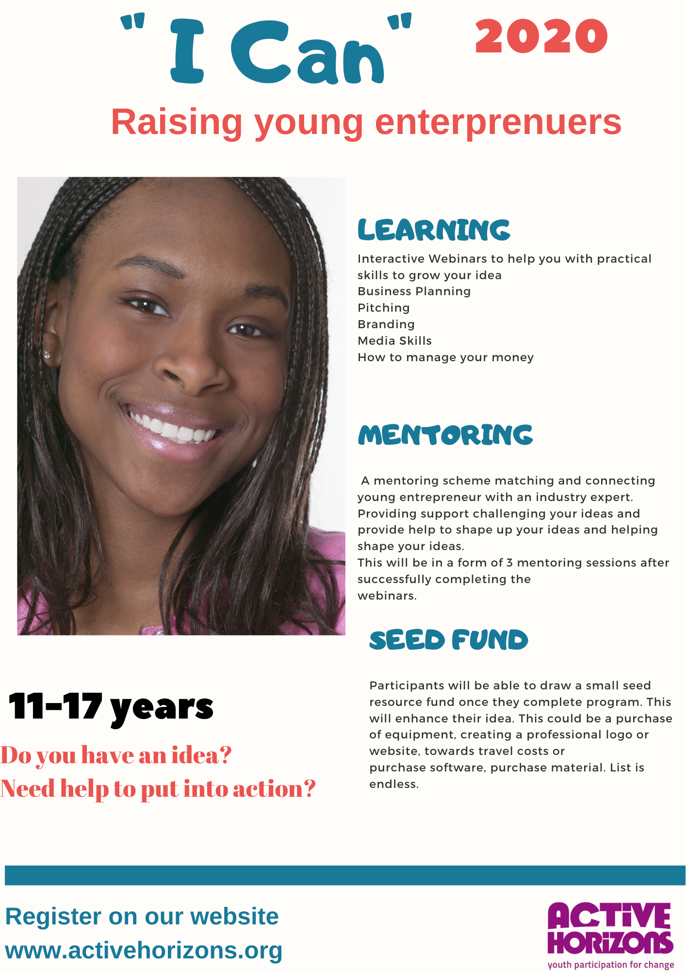 I Can- Young Entrepreneurs Program  (11-17 years)