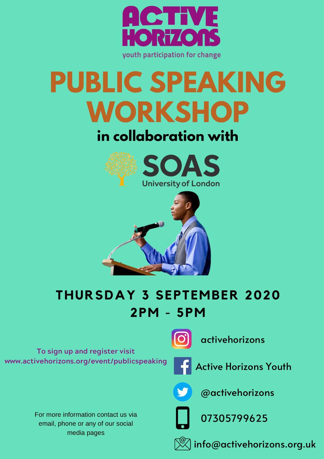 Public Speaking Masterclass Workshop