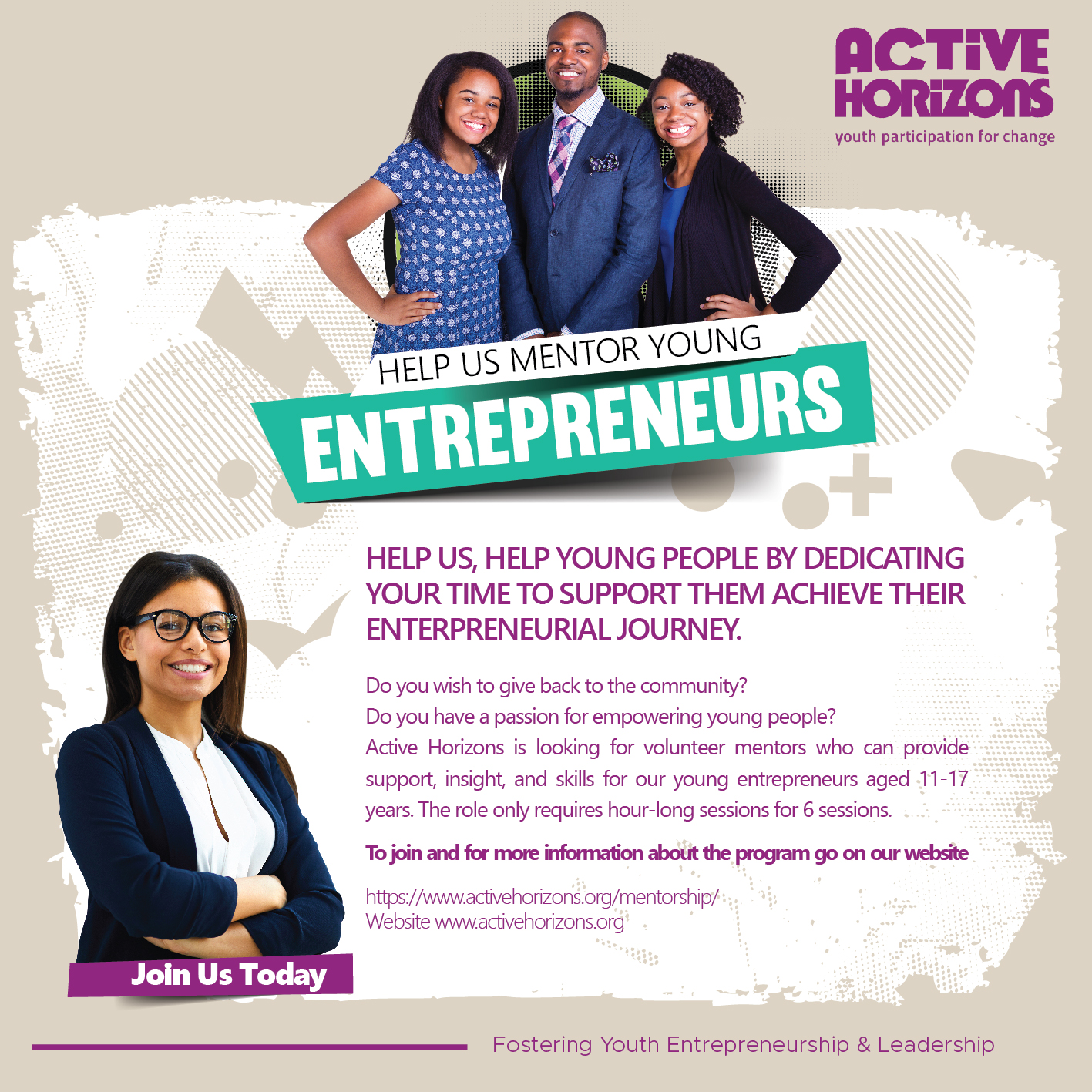 Help us Mentor our Young Entrepreneurs