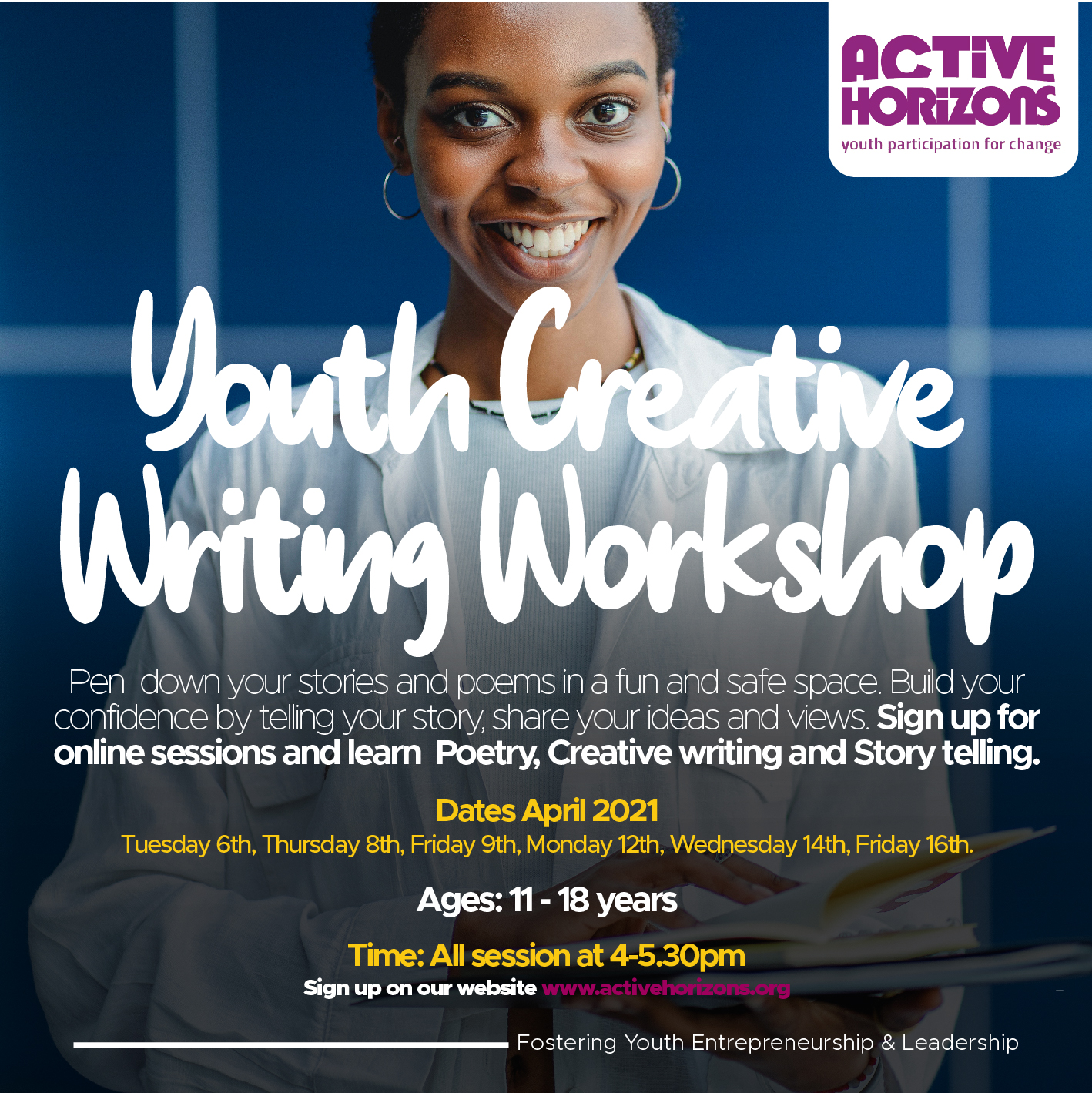 Creative Writing- (Easter sessions)