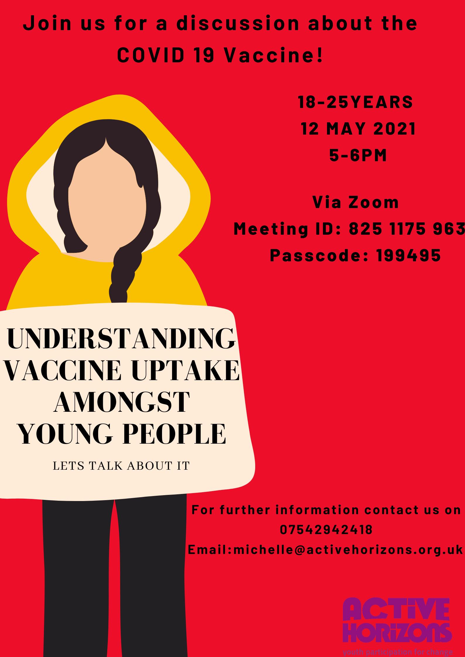 Understanding vaccine uptake among young people 18-25years