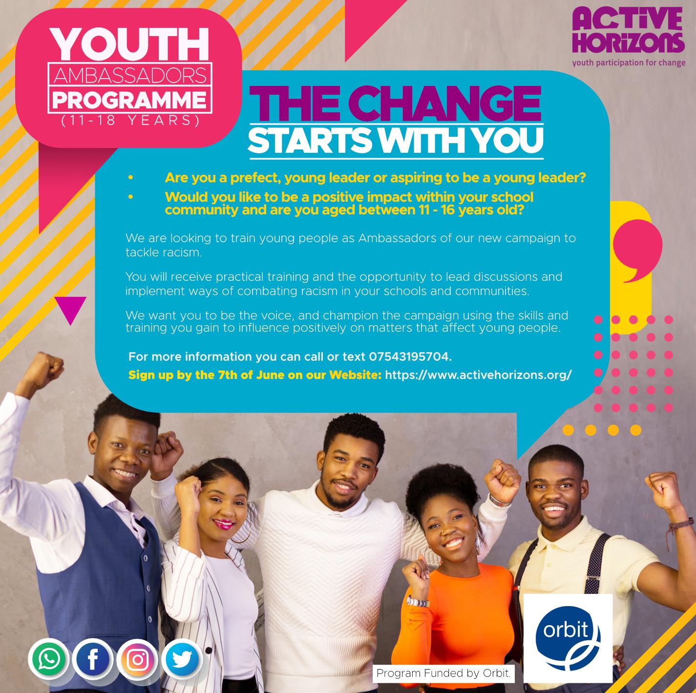 Youth Ambassadors Programme- Tackling Racism